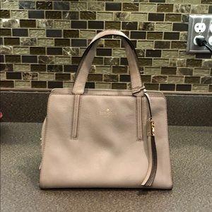 Kate Spade light taupe handbag